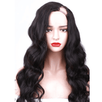 Brazilian Human Hair -  U Part Wig - Wavy Style