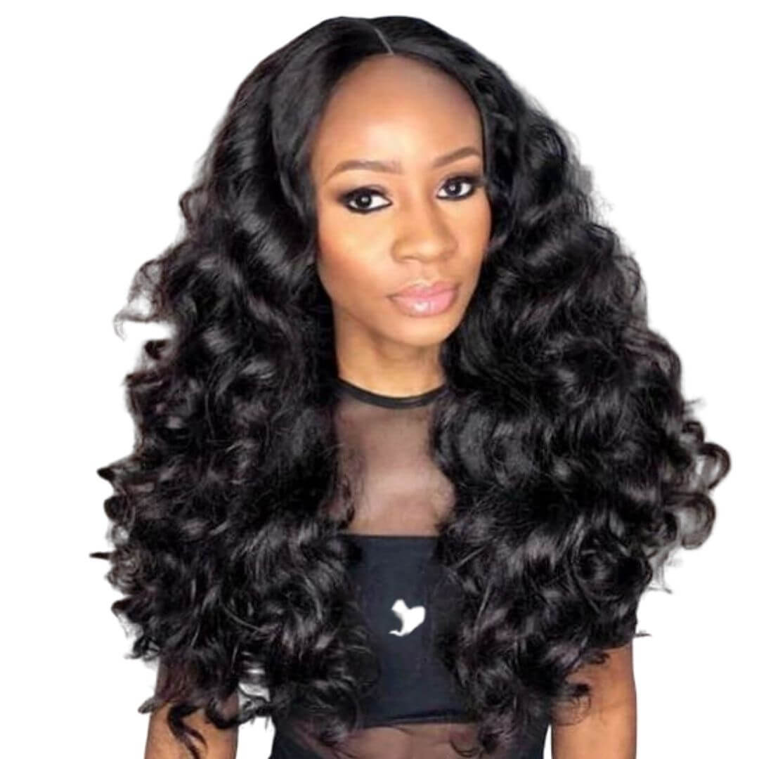 Brazilian Hair - Swiss Lace 4x4 Lace Closure Wig - Exotic Wave Style by Azul Hair Collection