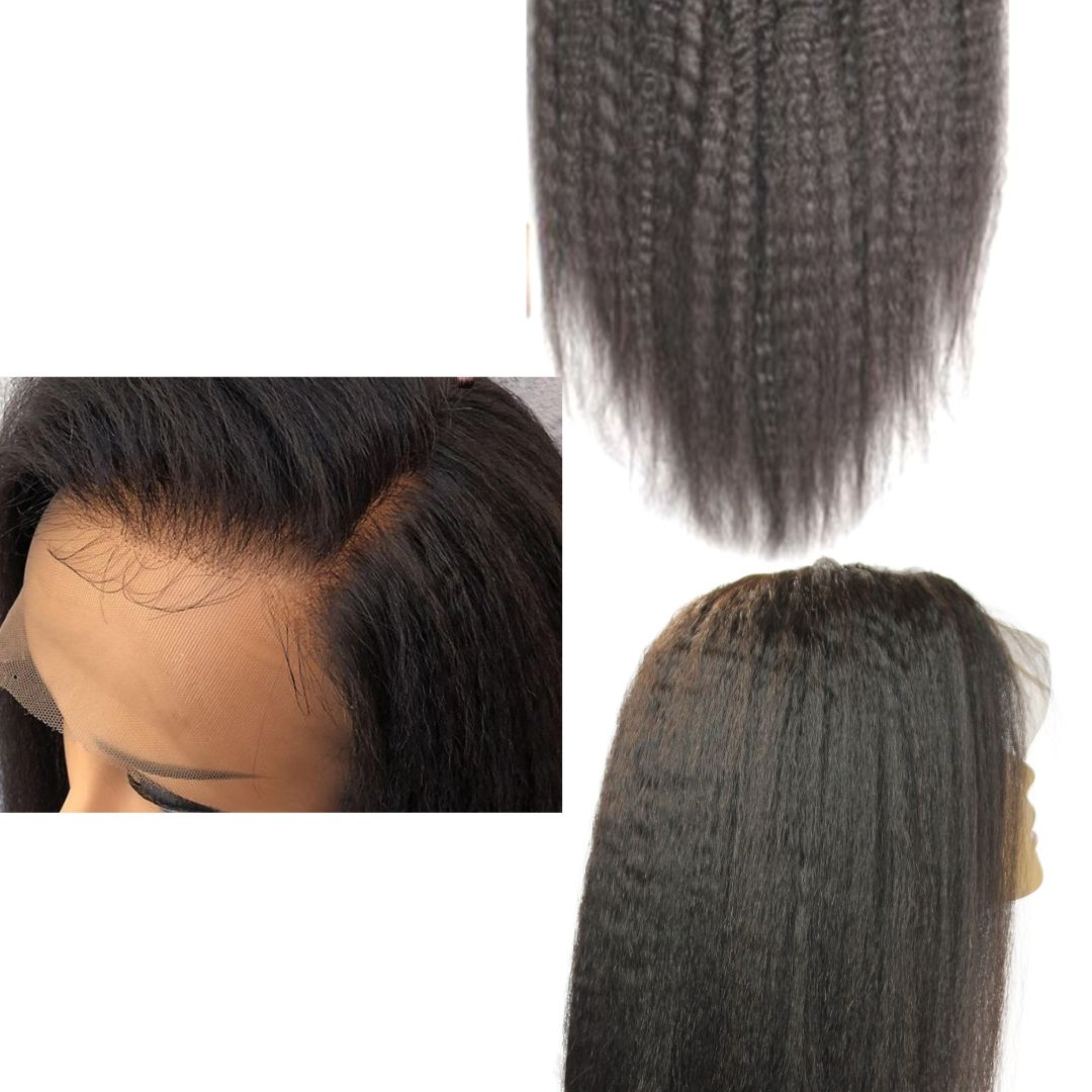 Brazilian HD Film Lace Wig -Kinky Straight - azulhaircollection Azul Hair Collection