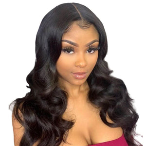 Brazilian Hair - Swiss Lace 4x4 Lace Closure Wig - Wavy Style by Azul Hair Collection