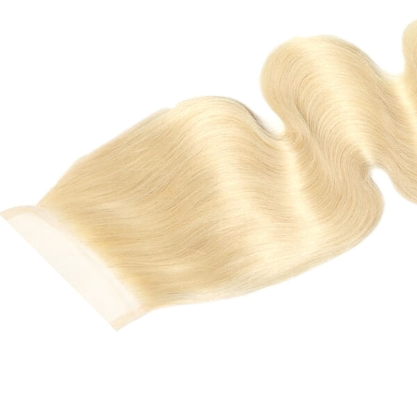 Brazilian Hair Lace Closure - Full Color Blonde - Wavy Style