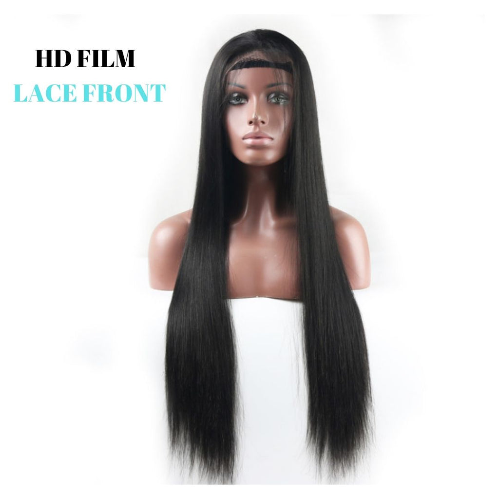 Brazilian HD Film Lace Wig - Straight - Lace Front   150% Density