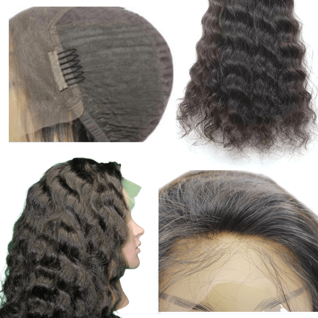 Brazilian Flawless Invisible Knot Lace Wig - Wavy - Lace Front   150% Density by azul hair collection