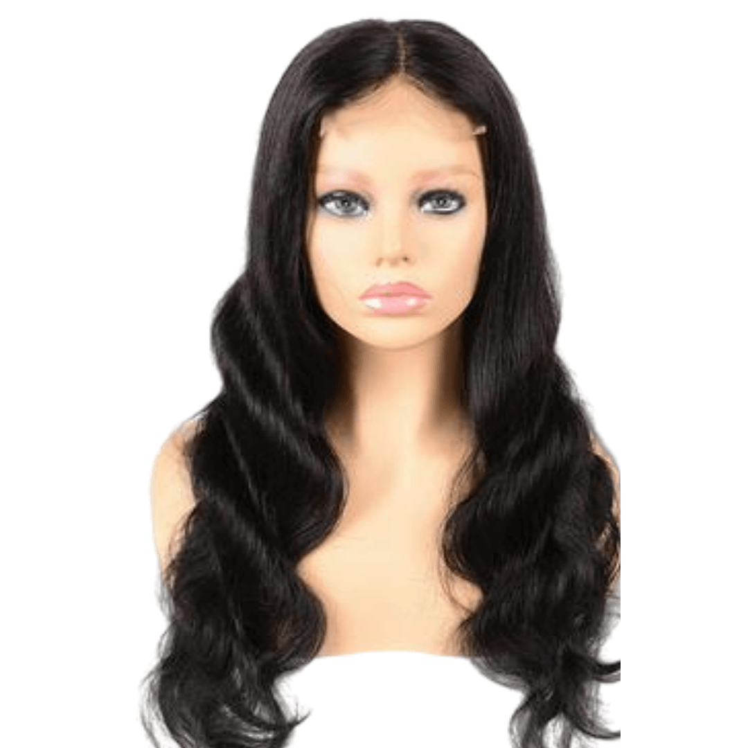 Brazilian Hair - Swiss HD Film Lace 4x4 Lace Closure Wig - Wavy Style