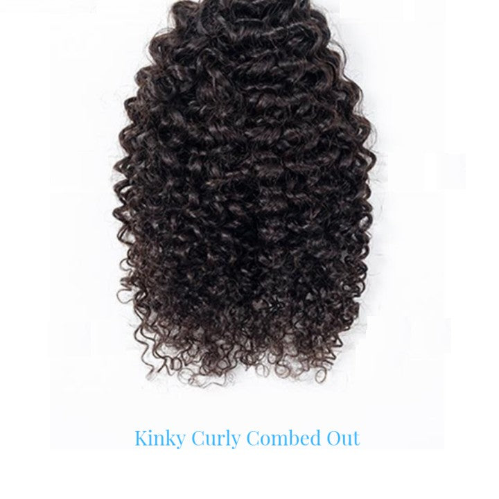 Brazilian Kinky Curly clip in Hair Extensions fullness