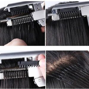 Brazilian Hair 6D Hair Extension Clips- Full Color Blonde -  Straight Style