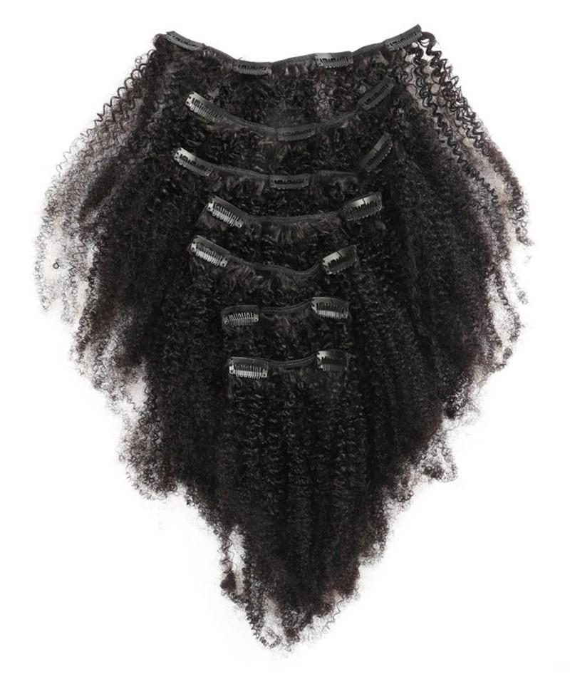 brazilian afro kinky clip in hair extensions