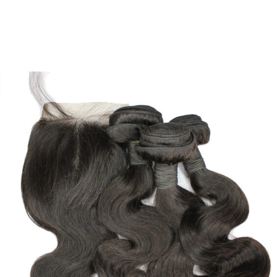 Brazilian Hair Bundle Set With Closure - Wavy Style