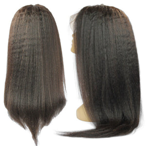 Brazilian Hair Swiss Transparent Full Lace Wig - Kinky Straight Style