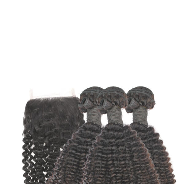 Brazilian Hair Bundle Set - Kinky Curly Style - azulhaircollection Azul Hair Collection