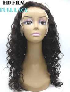 Brazilian Hair - HD Film Full Lace Wig - Exotic Wave Style