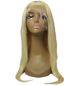 Brazilian Hair Lace Front Wig - Full Color Blonde -  Straight Style