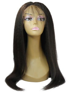 kinky straight brazilian hair lace front wig - azulhaircollection Azul Hair Collection