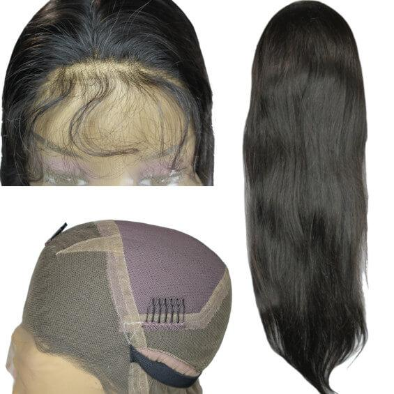 Brazilian Hair - Flawless Invisible Knot Full Lace Wig - Straight Style