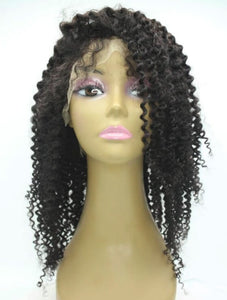 Brazilian Hair - Swiss Transparent - Lace Front Wig - Kinky Curly Style