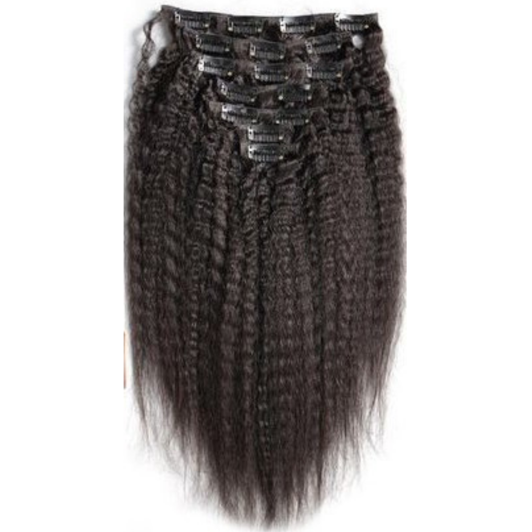 brazilian kinky straight clip in hair extensions - azulhaircollection Azul Hair Collection