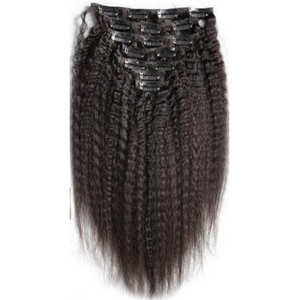 brazilian kinky straight clip in hair extensions