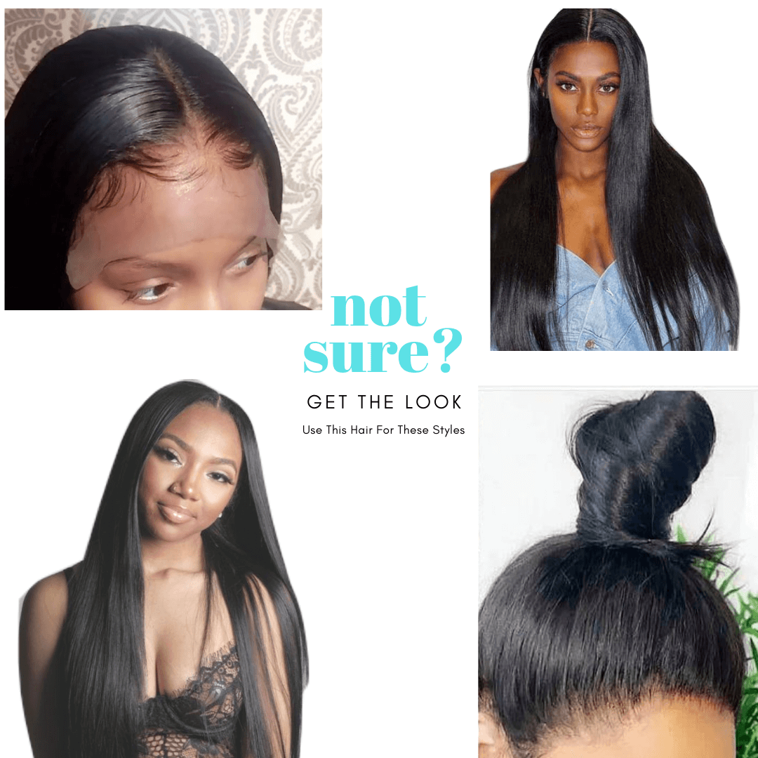 Straight brazilian HD film full lace wig - azulhaircollection Azul Hair Collection