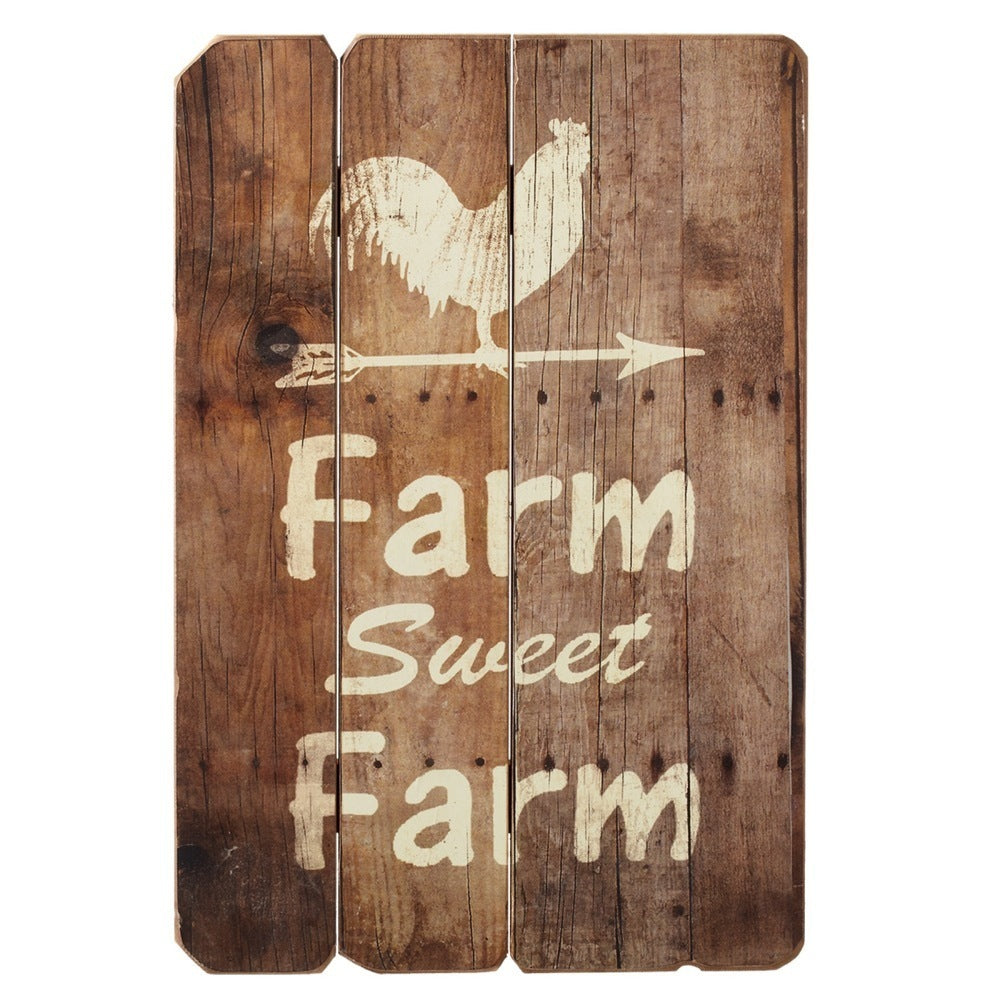 """Farm Sweet Farm Rooster"" Wall Art"