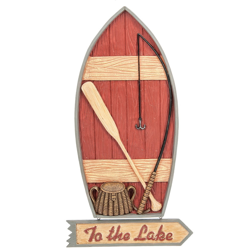"""To the Lake"" Boat Wall Decor"