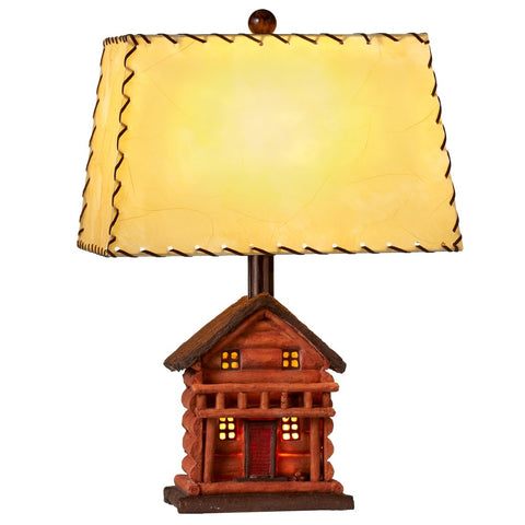 Rustic Cabin Table Lamp - 3 Way Switch