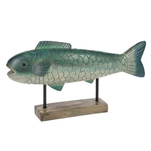 Small Fish On Stand Figurine Home Decor - Resin