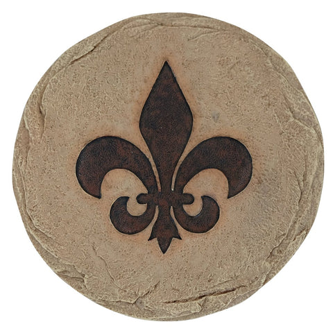 Art Deco Fleur De Lis Stepping Stone Wall Art