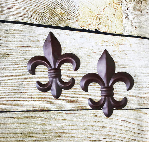 6 inch Fleur De Lis Wall Plaque - Set of 2