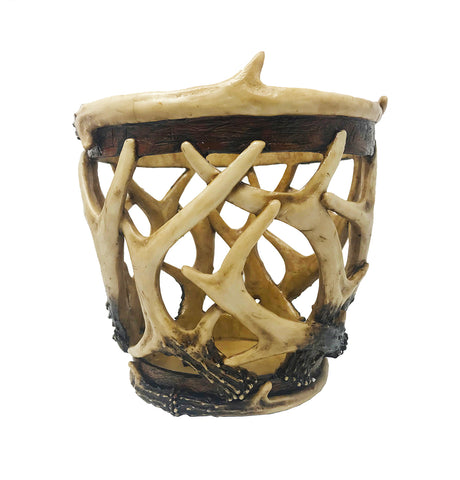 Woven Faux Antler Basket - Wilderness Decor