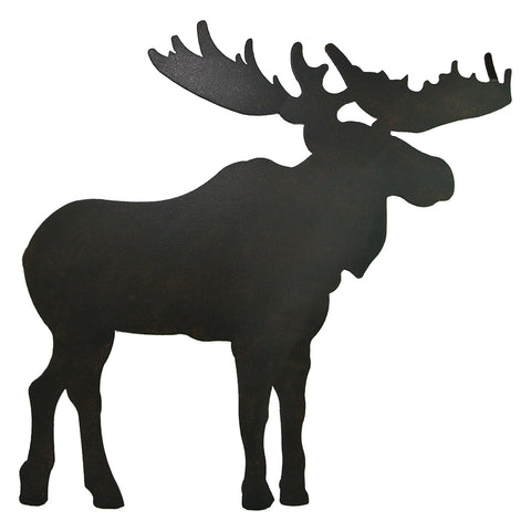 Metal Moose Silhouette Wall Art - Large Size
