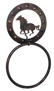 Metal Horse Towel Ring in Copper Finish
