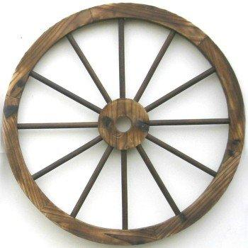 "Western Wood 24"" Wagon Wheel wall Decor"