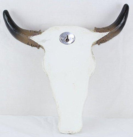 Faux Tooled Bull Skull Wall Sculpture