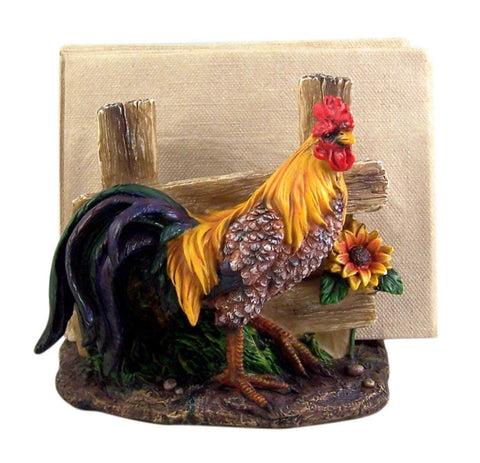 Farm Yard Rooster Napkin Holder