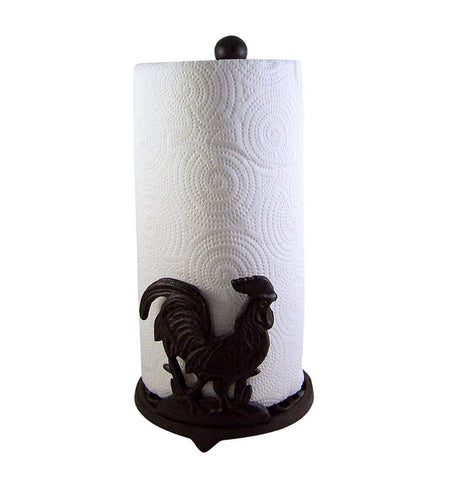 Cast Iron Country Rooster Paper Towel Holder