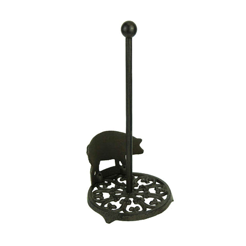 Cast Iron Standing Pig Paper Towel Holder