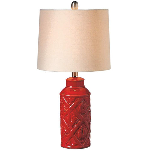 Country Life Red Rooster Ceramic Accent Lamp