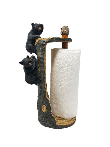 Bears Climbing Tree Paper Towel Holder - 8.5 x 6.5 x 15.5 inches