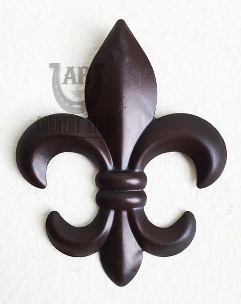 3D Metal Fleur De Lis Wall Decor - 6 inch Plaque