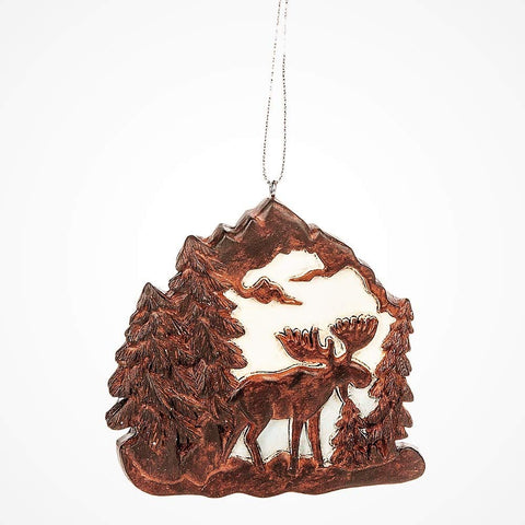 Moose in The Wild Ornament