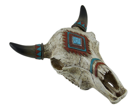 Rustic Southwest Steer-Cow-Bull-Skull TRINKET Container-Decorative-Table Top