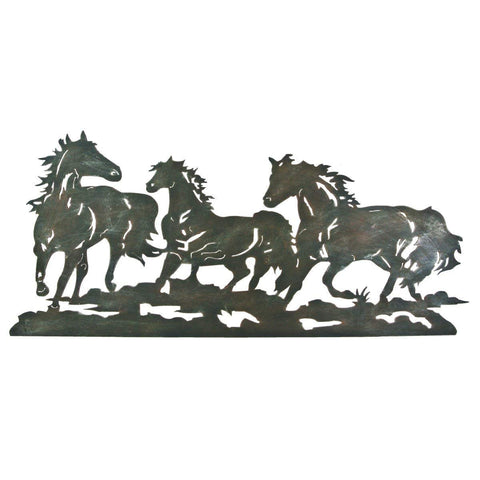 Metal Galloping Horse Wall Plaque