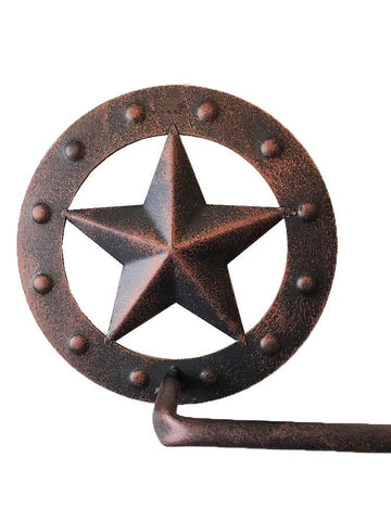 Rustic Lone Star Bathroom Towel Rack/BAR- Metal Wall Mount - Copper Finish 26""