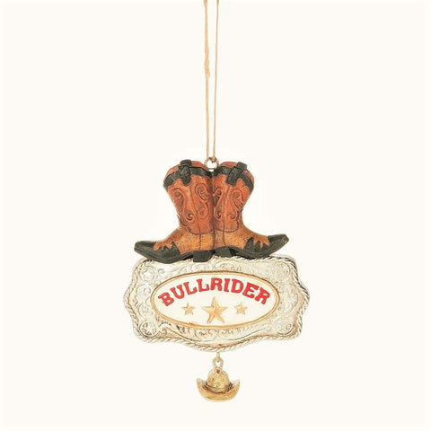 """Bull Rider"" Western Boot Ornament"
