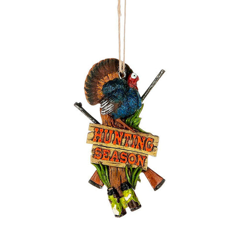 """Hunting Season"" Turkey Ornament."
