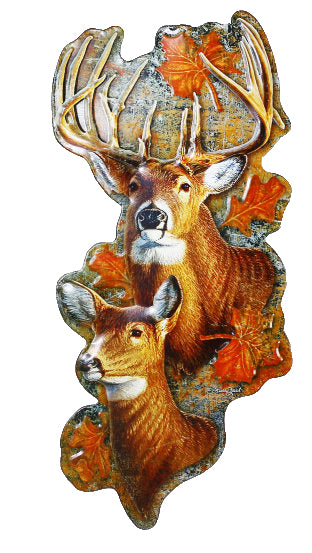 Die Cast Metal Deer Sign Wall Decor