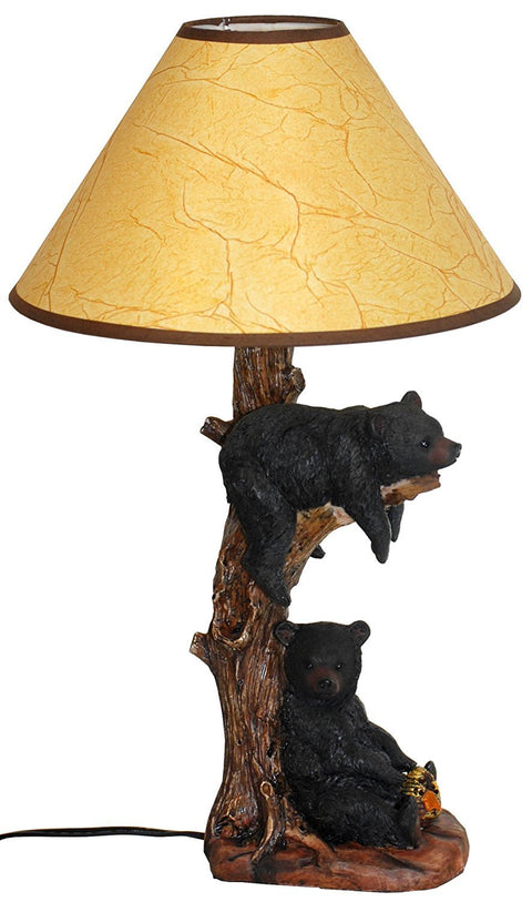 Two Bears Napping Table Lamp