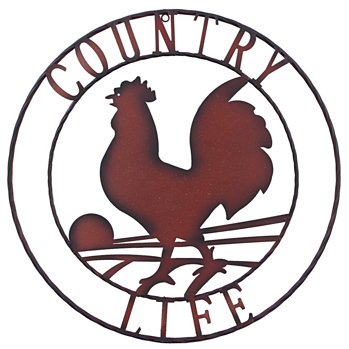 """Country Life"" Rooster Wall Art"