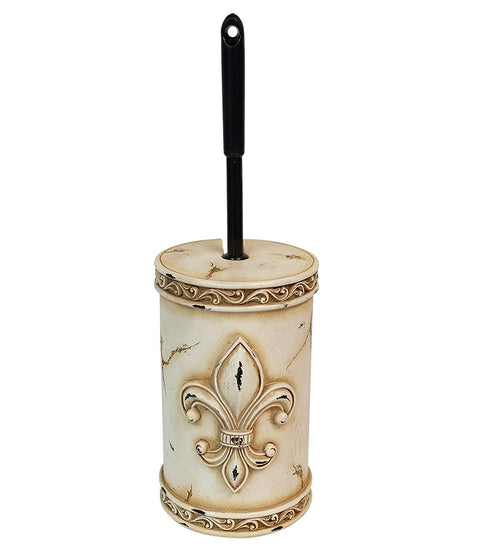 Art Deco Fleur De Lis Toilet Brush Holder