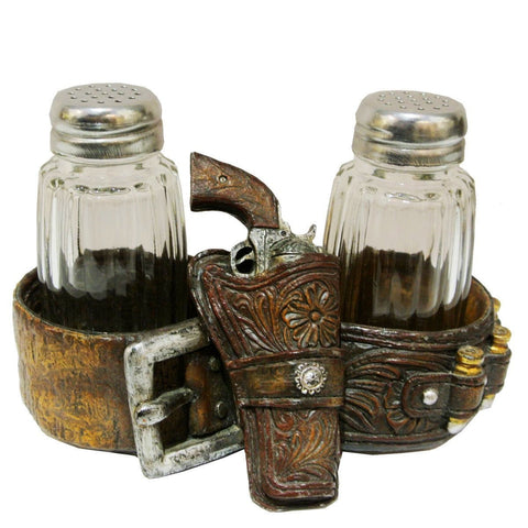 Pistol & Gun Belt Salt and Pepper Set